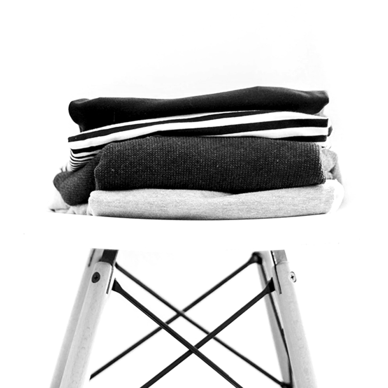 Folded clothes on chair